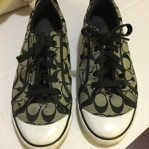 Coach Black signature Sneakers size 11