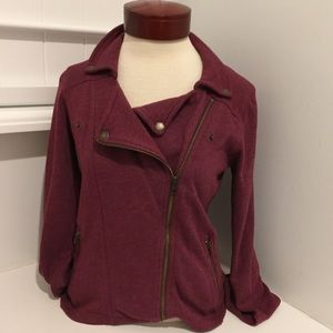 AMERICAN EAGLE JACKET WINE COLORED JACKET