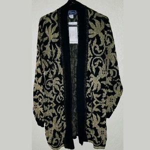 Metallic Cardigan Robe Coat JJ Browne