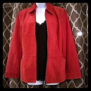 Bernardo Red Leather Blazer