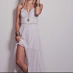💕🌸Free People Embroidered Maxi dress  XS /2