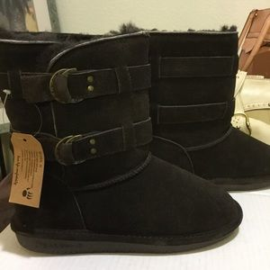 BEARPAW  Dark Chocolate Brown Boots size 9