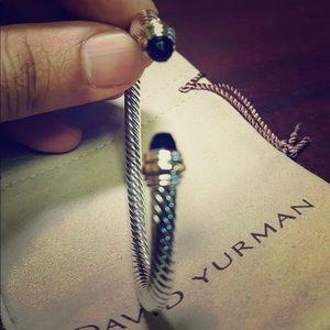David yurman Classic cable bracelet black onyx
