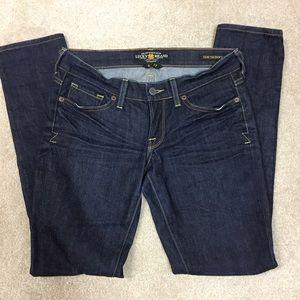 NWOT Lucky Brand Zoe Skinny Jeans Dark Wash