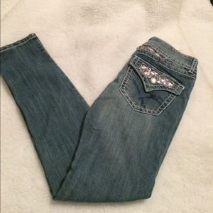 Vanilla Star Jeans Women's Sz 5, Skinny Embellish