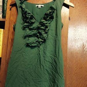 Green Ruffle Banana Republic Dress