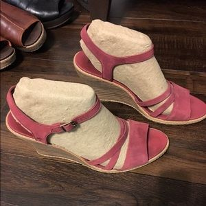 Timberland wedges. Red/pink.
