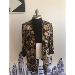 Vintage Printed Lightweight Jacket