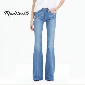 Madewell flea market flare jeans maribel wash