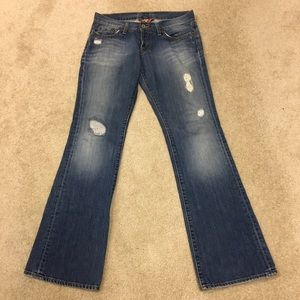 Lucky LiL Maggie 100% Cotton Distressed Jeans