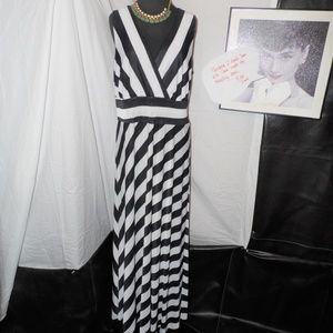 Destiny Platinum Empire Waist Cutout Back Dress 2X