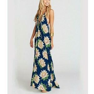 SMYMM Logan Lace Up Maxi Sunflower Dreams