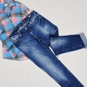 Mavi Jeans Distressed Emma Slim Boyfriend