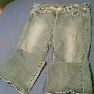 Silver jeans Lola flare 34w 32L