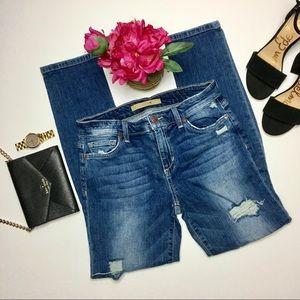 Joe's Jeans Rolled Crop Skinny Jeans Keagan Wash