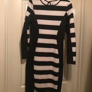 Black and White Midi dress.