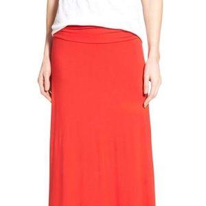 Bobeau red maxi skirt S