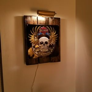 Hand crafted Harley sign
