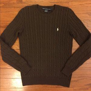 Ralph Lauren Sport Cable Knit Crewneck Sweater