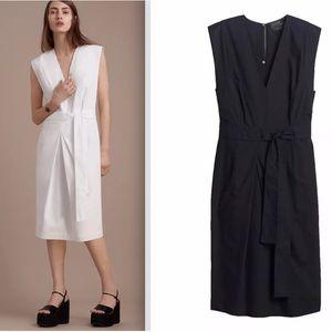 New Babaton / Aritzia Black Poplin Midi Dress S