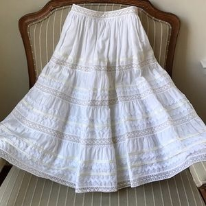 Odille Tiered Midi Skirt from Anthropologie