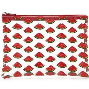 Watermelon Print Makeup Bag