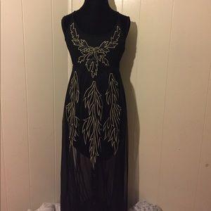 Boutique Sheer Maxi Dress