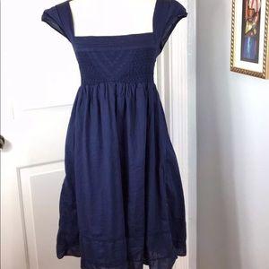 Anthropologie Maeve navy dress