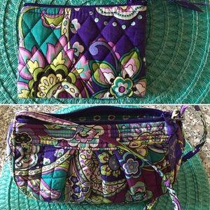 "Vera Bradley ""heather"" cross body handbag purse"