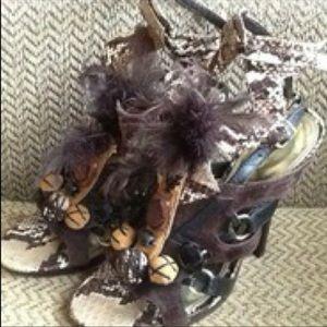ISO: Bebe feather heels as 10