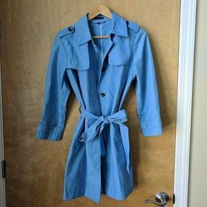 Gap Blue Trench Coat, Medium