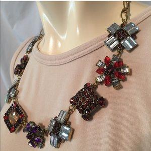 Gorgeous rhinestone colorful necklace