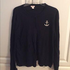 Jcrew anchor ⚓️ cardigan