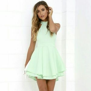 Lulu's Mint Green Skater Dress