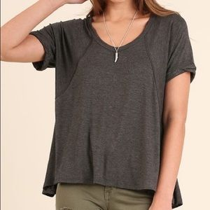 NWT gray super soft top Flowy and lots of room