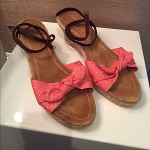 JCrew espadrilles with bow and suede ankle strap