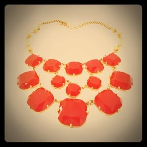 Stella + Dot Faceted Resin Bib Statement Necklace