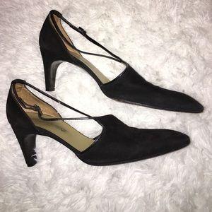 YVES SAINT LAURENT Black Suede Vintage Heels 8.5 M
