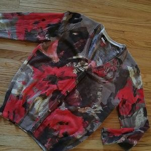 Gorgeous abstract floral cardigan