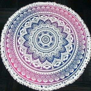 Ombre Tribal Round Beach Towel