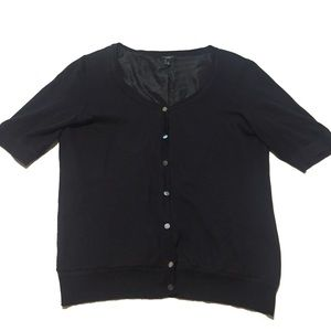 Talbots Black Cardigan with Pearl Buttons Size S
