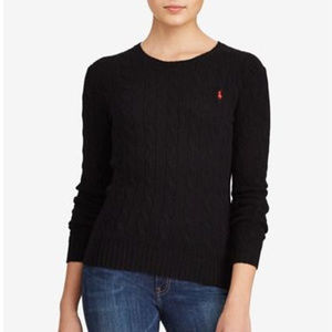 Ralph Lauren Cable Crew-Neck Wool Cashmere Sweater