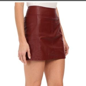 Free People Vegan Leather Mini Skirt