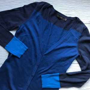 The Limited Color Block Cardigan