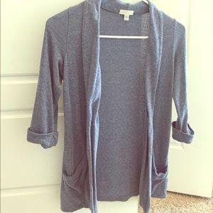 Silence + Noice Blue 3/4 sleeve cardigan
