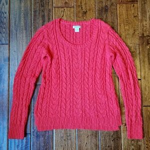 Lucky Brand cotton cable crew neck