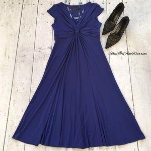 Jones New York blue/purple stretchy knot dress
