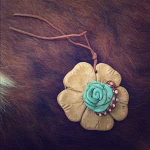 Clay necklace pendant