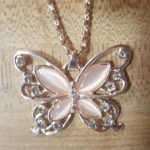 fashion jewely butterfly necklace