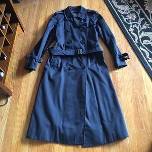 Burberry vintage navy trench coat